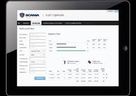 optimalizační nástroj Scania Fleet CO2MPOSER
