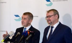 Ministři Ťok a Babiš: Ministerstvo dopravy pracuje dobře, má výsledky