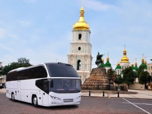 Soutěž písní Eurovize 2017: Pódium připravené pro NEOPLAN Cityliner / Foto zdroj: MAN Truck & Bus Czech Republic s.r.o.