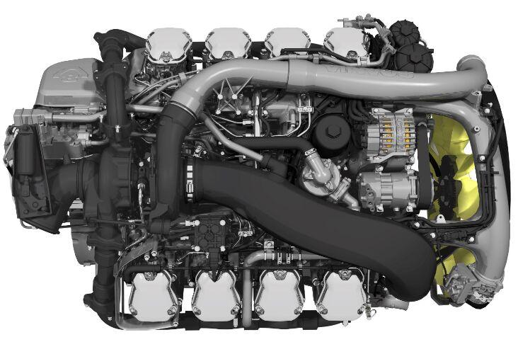 Motory společnosti Scania poslední generace Euro 6 V8 dosahují nových standardů ve spotřebě paliva / Foto zdroj: Scania Czech Republic, s.r.o.