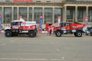 Tým MKR Technology se 3 kamiony Renault Truck má za sebou dvě etapy Silk Way / Foto zdroj: MKR Technology
