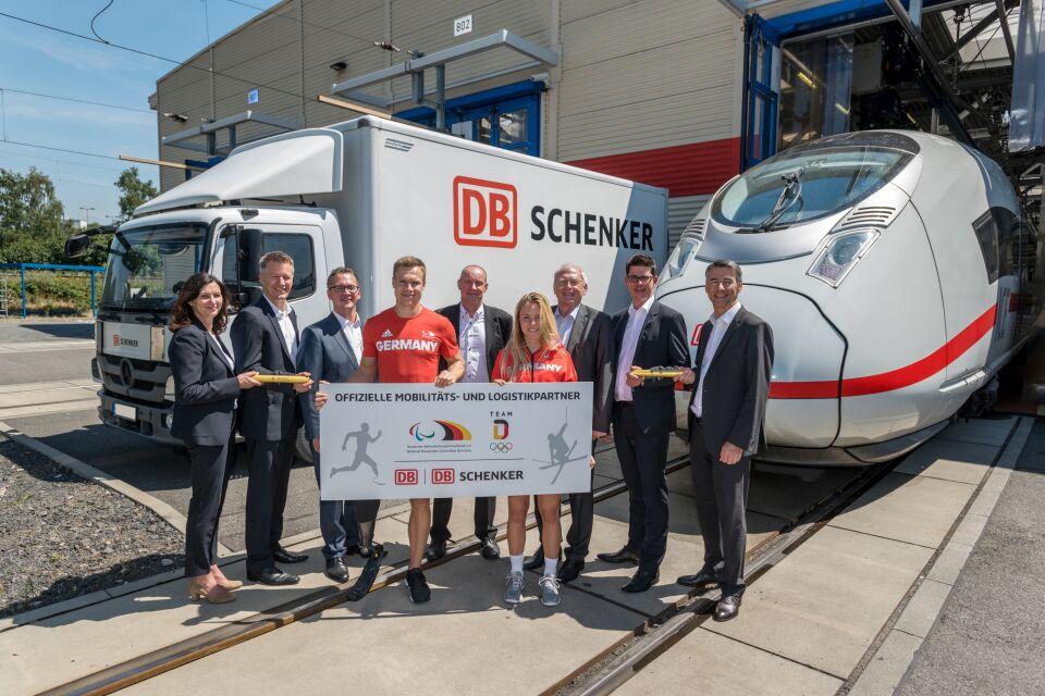 DB Schenker doprovází německé sportovce za medailemi / Foto zdroj: DB SCHENKER