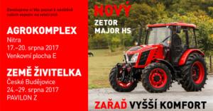 Zetor na výstavách Agrokomplex a Země Živitelka / Foto zdroj: ZETOR TRACTORS a.s.