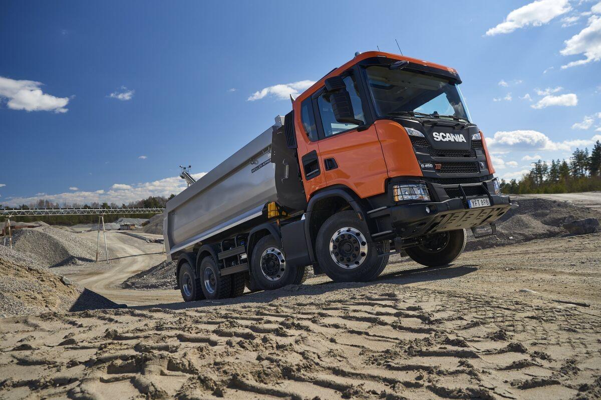 Scania G 450 XT 8x4 / Foto zdroj: Scania, Dan Boman 2017