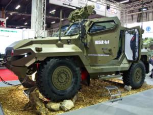Polská společnost H. CEGIELSKI-POZNAŃ a česká TATRA DEFENCE VEHICLE a představily nové obrněné vozidlo HUSAR 4x4 / Foto zdroj: Tiskový servis CZECHOSLOVAK GROUP