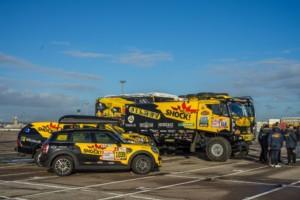 Dakarské přejímky v Le Havre: Macík se loučil s Frantou, Brabec trhal kabely / Foto zdroj: BIG SHOCK RACING