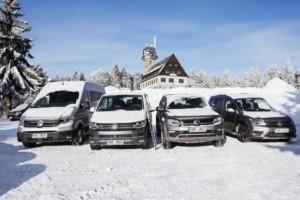 Modely 4MOTION se osvědčují nejen na sněhu / Foto zdroj: Porsche Česká republika s.r.o. Divize Volkswagen Užitkové vozy