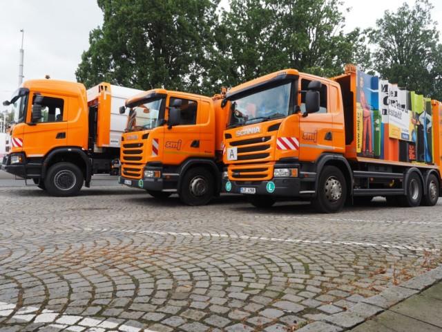První Scania XT pro svoz komunálního odpadu bude jezdit na Vysočině / Foto zdroj: Scania Czech Republic, s.r.o.
