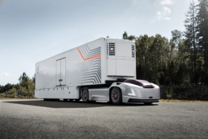Společnost Volvo Trucks představuje přepravní řešení budoucnosti využívající autonomní elektromobily / Foto zdroj: Volvo Group Czech Republic, s.r.o.