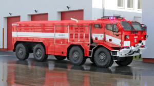 Hasiči převzali nové zodolněné speciály TATRA spancéřovanými kabinami / Foto zdroj: TATRA TRUCKS a.s.