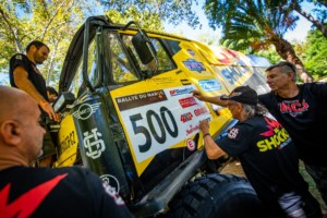 Macík sBrabcem na startu Rallye du Maroc / Foto zdroj: BIG SHOCK RACING