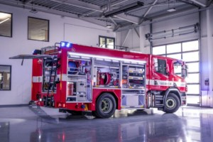 Pražští hasiči si převzali 10 vozidel Scania snástavbou od společnosti Kobit / Foto zdroj: Scania Czech Republic, s.r.o.