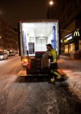 Tichý noční rozvoz pomocí hybridního nákladního vozidla / Foto zdroj:  Scania Czech Republic, s.r.o.