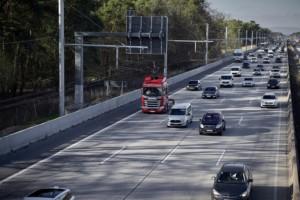 Jak funguje elektrifikovaná dálnice / Foto zdroj: Scania Czech Republic, s.r.o.