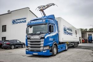 Spedition Schanz je průkopníkem elektrické silniční dopravy v Německu / Foto zdroj:  Scania Czech Republic, s.r.o.