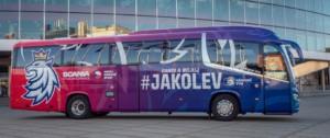 Nový autobus Scania Irizar i6s pro české hokejisty / Foto zdroj: Scania Czech Republic, s.r.o.